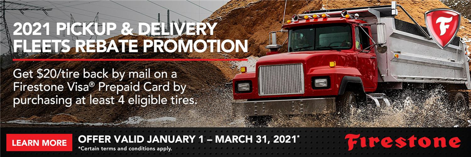 2021 Firestone TBR Pickup and Delivery Fleets Promotion
